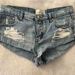 One Teaspoon Cut Off Ripped Shorts